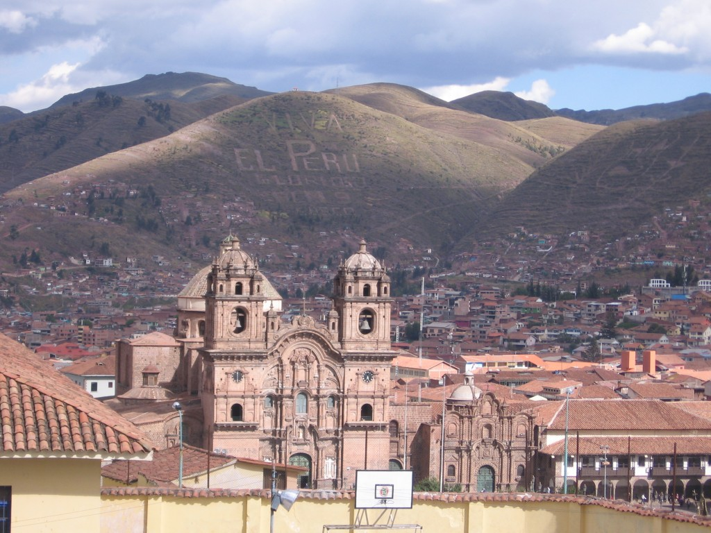 Cuzco from the hill behind our hostel