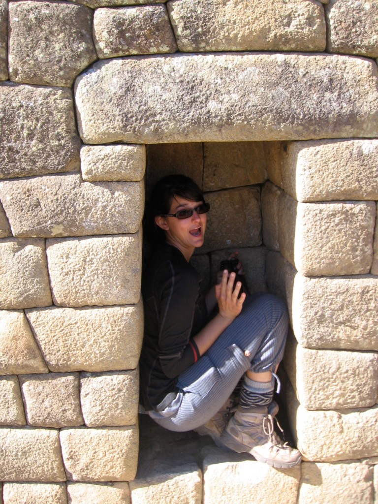 Mel in a tomb