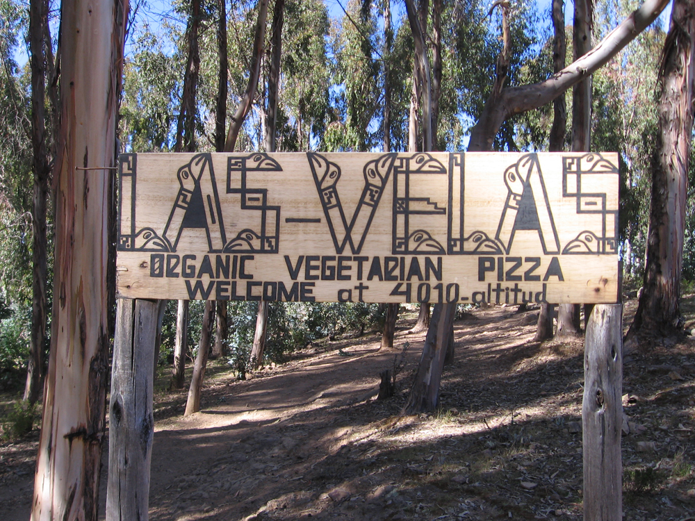 Las Velas has an amazing Veggie Pizza we ate by candle light, he cook/waiter/only guy working even walked us back to our hostel!
