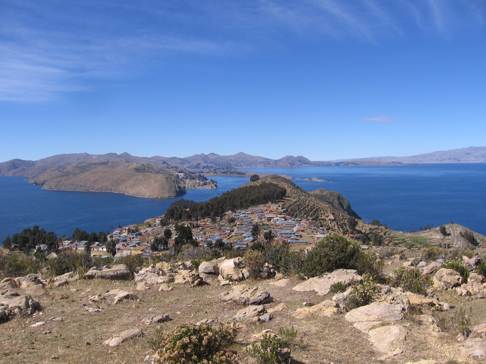 Looking South on the Isla del Sol