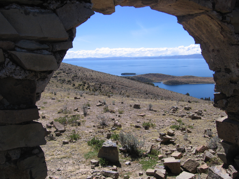 View of the Northeast through a ruin