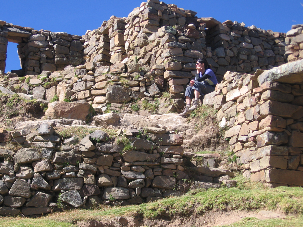 Mel at the Inca ruins in the North