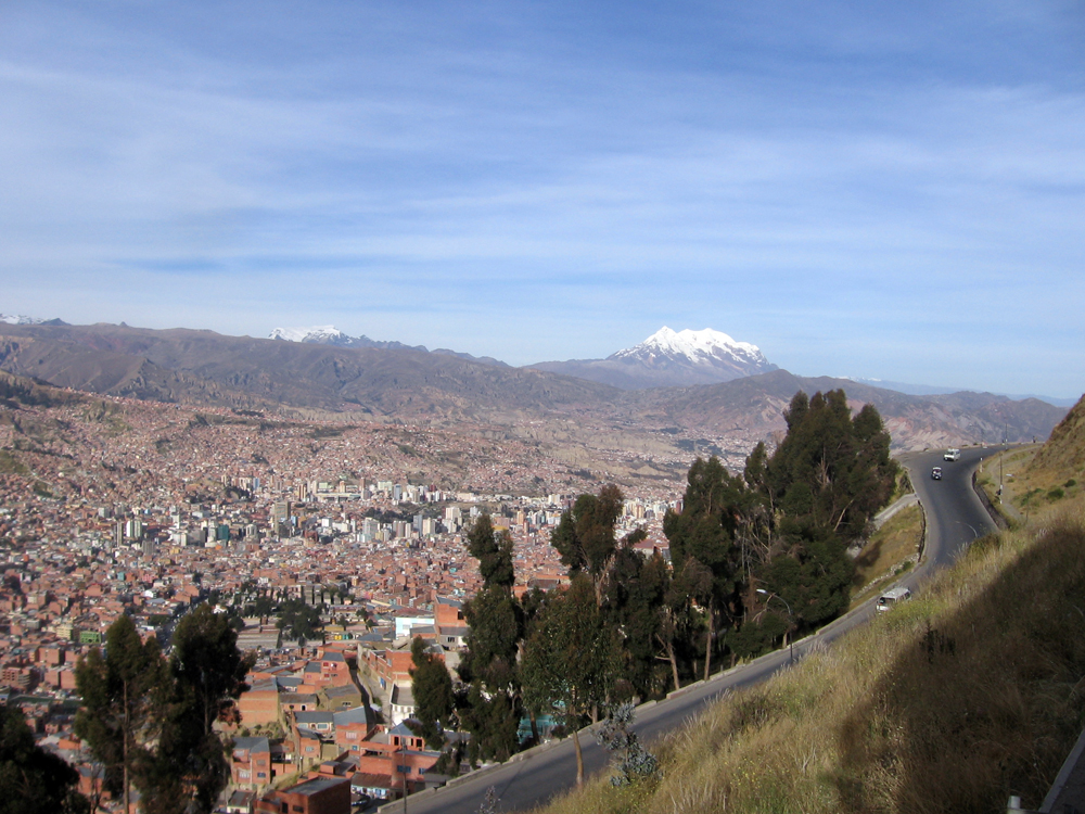 The view of La Paz as we arrived, the city is at an elevation of 3,640 m so just walking the streets was like hiking a mountain
